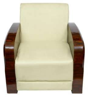 Pair Art Deco 1920s Club Arm Chairs Sofa Seats Armchair