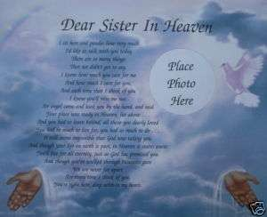 DEAR SISTER IN HEAVEN MEMORIAL POEM . .IN LOVING MEMORY