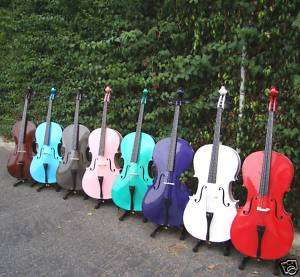 Blue,Black,Pink,Green,Purple,White,Red,GoldCello+VIOLIN