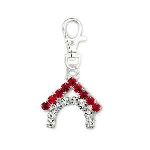 Red Crystal Dog House Charm