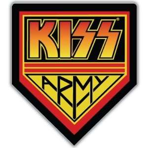 KISS Army Music car bumper sticker decal 5 x 5