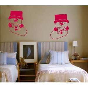 Large  Easy instant decoration wall sticker wall mural  Snowman