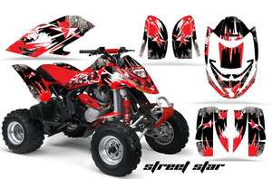 RACING GRAPHIC DECAL KIT ATV CANAM BOMBARDIER DS650 DS 650 X STREET