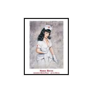 Bettie Page Poster Nurse Bettie By Olivia