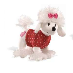 White Poodle Love is in the Air Valentine Puppy Love Sound Toy