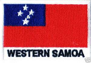 WESTERN SAMOA EMBROIDERED Iron Patch T Shirt Sew Cloth