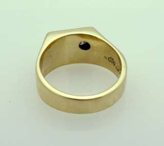 10k Yellow Gold cTo Mens Diamond Ring 14 grams size 12