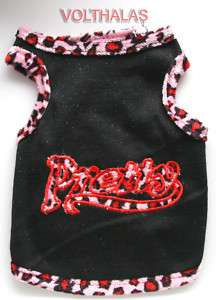 NEW Small Black Red Pretty Pet Dog Puppy Dress Clothes Skirt Shirt