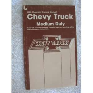 1988 Chevrolet Chevy Medium Duty Truck Owners Manual Automotive