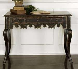 Black Console Sofa Hall Table Asian Oriental Classic Luxury