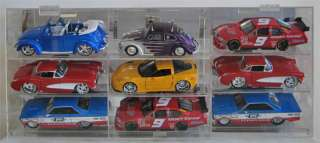 NASCAR 124 Diecast Display Case ANGLED Shelves