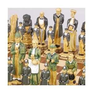 The Sherlock Holmes Chess Set Pieces   SAC Hand Decorated