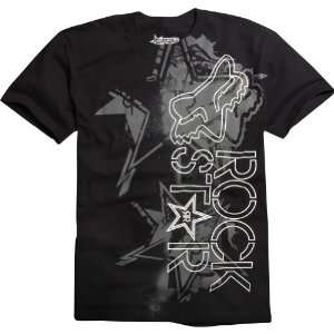 Fox Racing Rockstar Showbox Mens Short Sleeve Casual Shirt   Black