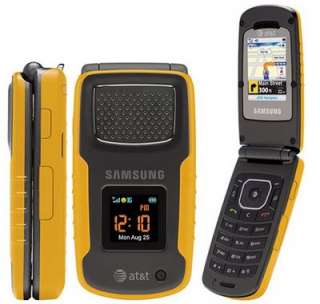 NEW SAMSUNG SGH A837 Rugby 3G Phone AT&T GPS GSM Yellow