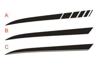 Dodge Charger Rear Quarter Panel Stripe Decal kit 06 10