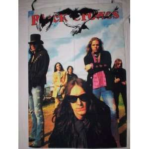 BLACK CROWES 42x30 Inches Cloth Textile Fabric Poster