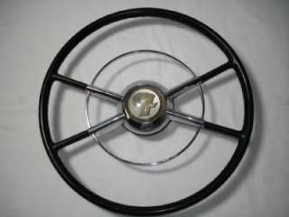 1950 Ford Orig. Crestliner Steering Wheel & Horn Ring