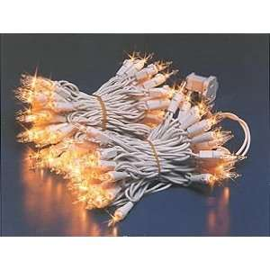 Club Pack of 25 Sets Yellow Mini Christmas Lights White