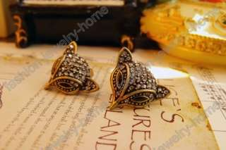 Fashion Lovely Fox Dazzling Crystal Earings HOT