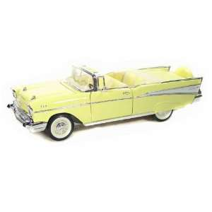1957 Chevy Bel Air Convertible 1/18 Yellow Toys & Games