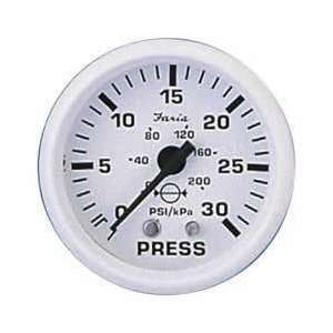 Faria 13108 Dress White Water Pressure Gauge Automotive