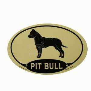 Euro Style Oval Dog Decal Pit Bull  Pet Supplies