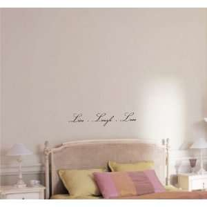 Live Laugh Love Vinyl wall art Inspirational quotes and