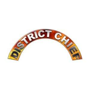 District Chief Real Fire Firefighter Fire Helmet Arcs / Rocker Decals