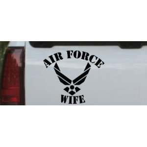 13.6in    Air Force Wife Military Car Window Wall Laptop Decal Sticker