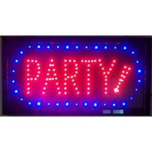 Party Lighted Sign Wall Art Plaque Indoor Outdoor