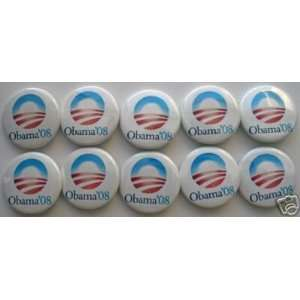 BARACK OBAMA president campaign 1 1/2 buttons pins