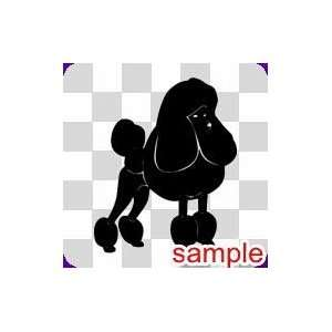 DOG POODLE WHITE VINYL DECAL STICKER
