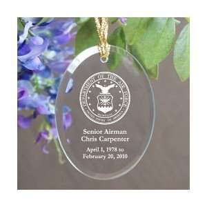Personalized Air Force Memorial Keepsake Ornament