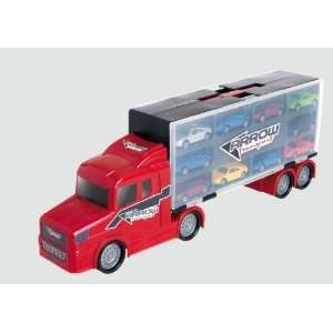 Teamsters Car Auto Transporter with 10 Cars Toys & Games