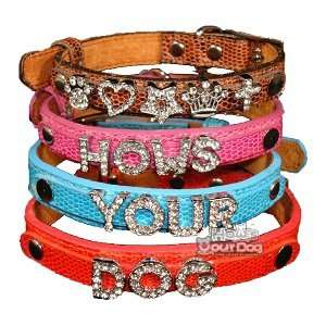 Hows Your Dog Swarovski Crystal Personalizable Snakeskin