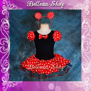 Girl Minnie Mouse Dance Costume Fancy Dresses Headband Party Birthday