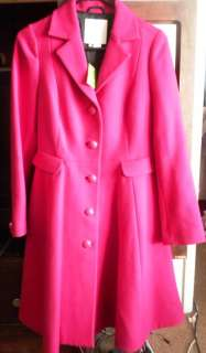 NWT Kate Spade NY PATRICE Fuchsia Coat Long Jacket Orig $795 Work