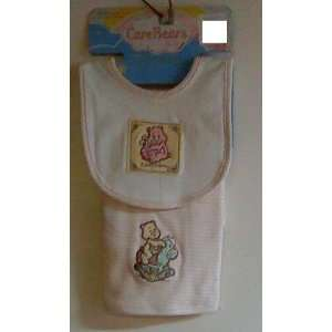 Care Bears Bib & Burp Cloth, Appliqued and Embroidered Baby