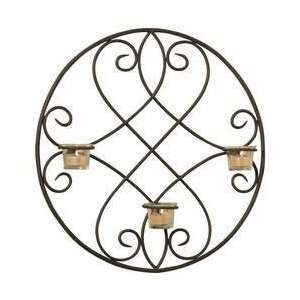 Luca Bella Hometrade Lindsey Wrought Iron Wall Sconce