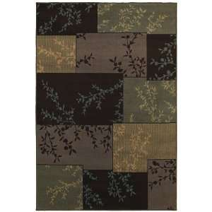 Concepts Collection Primavera Brown Contemporary Floral Area Rug 1.11