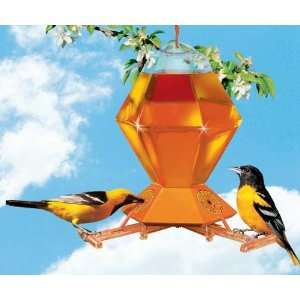 Perky Pet Hex Oriole Feeder w/Bee Guards 36 oz, NO DRIP Feeding Base