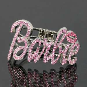 Iced Out NICKI MINAJ BARBIE Bangle Bracelet 2 COLORS