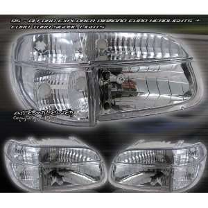 Ford Explorer Headlights Euro Diamond Headlights With Corner 1995 1996