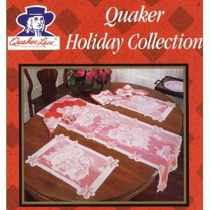 Quaker Lace Translucent White Snowmen Christmas Table