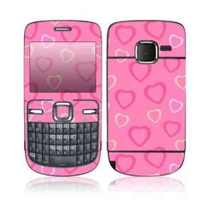 Pink Hearts Design Protective Skin Decal Sticker for Nokia