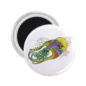 NEW Tattoo Peacock Art Fridge Souvenir Magnet 2.25 Free