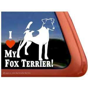 I Love My Fox Terrier ~ Smooth Fox Terrier Dog Vinyl