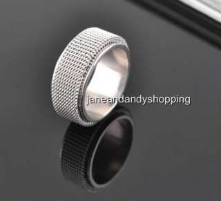 Fashion Stainless Steel mens Ring Double Layer can be rotat Size 17mm