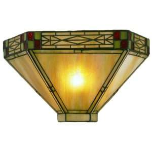 Dale Tiffany 8676/1LTW Mission Wall Sconce Light, Art