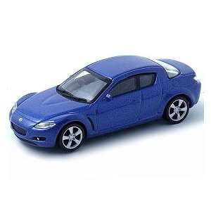 164 Scale Mazda RX 8 Blue Diecast Car Model Toys & Games